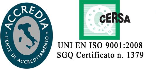 certificato Accredia Cersa